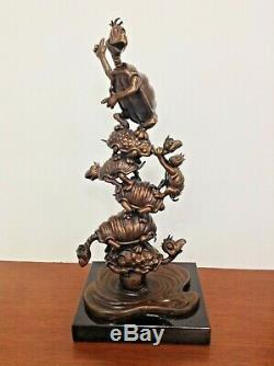 Turtle Tower Dr. Seuss Art Limited Edition Bronze Sculpture By Artist Leo Rijn