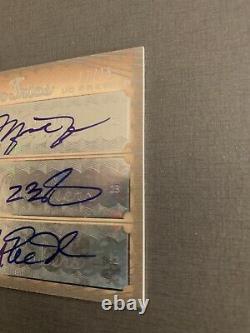 Unique Michael Jordan, Lebron James, Magic Johnson Triple Trios Auto Card