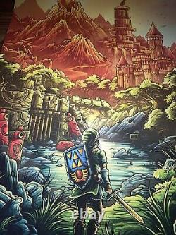 Zelda Awake The Dreamer Art Print Poster Dan Mumford Signed AP Mondo Link